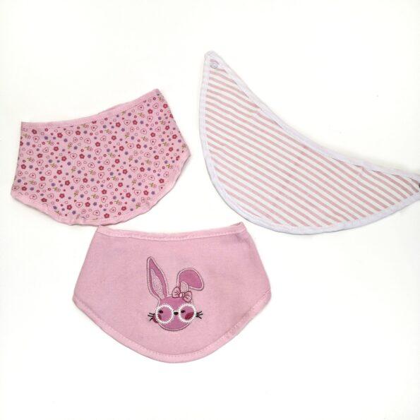 lote babetes estilo lenço rosa
