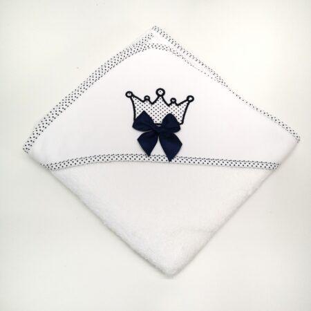 toalha de bebe coroa