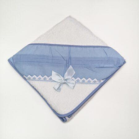 toalha de bebe laço