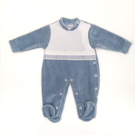 babygrow veludo indigo