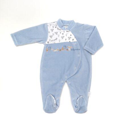 babygrow veludo azul