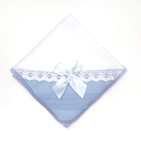 fralda em algodão azul
