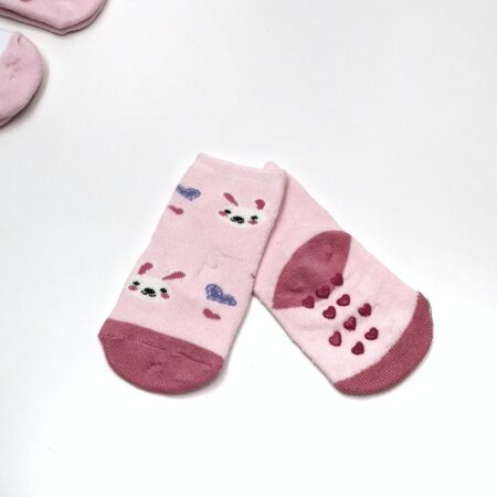 meias antiderrapantes menina coelho