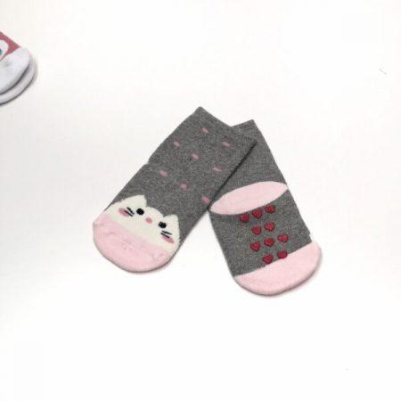 meias antiderrapantes menina gatinho