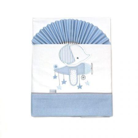 lençois cama bebé azul