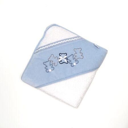 toalha de banho bebé azul