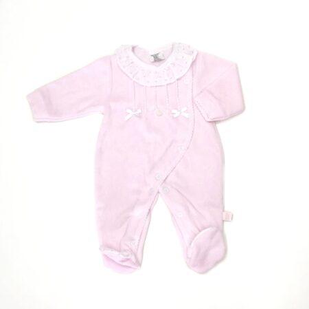 babygrow com gola em rosa