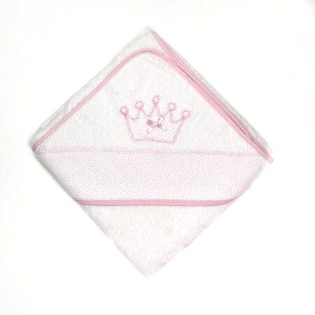 toalha de banho bebé coroa