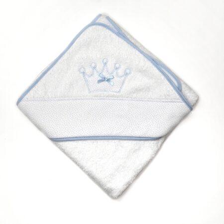 toalha de banho coroa azul