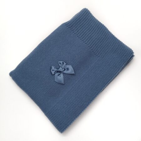 manta para bebe em malha azul
