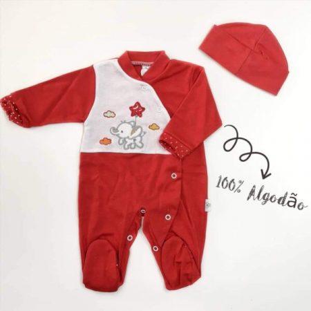 babygrow algodão vermelho