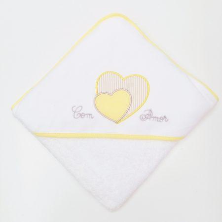 toalha coração amarelo