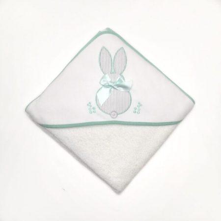 toalha de banho bebé verde