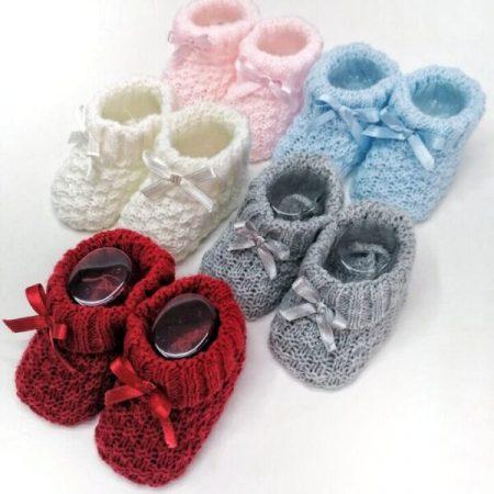 botinha carapins de malha bebé