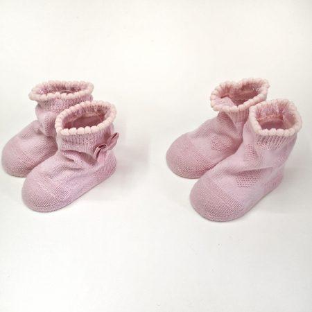 meias bebé recen nascido rosa