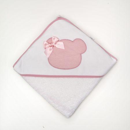 toalha de bebé rosa