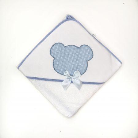 toalha de bebé azul