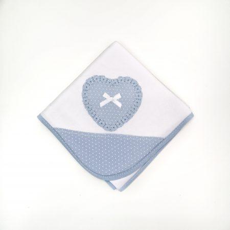 fralda coração laço azul